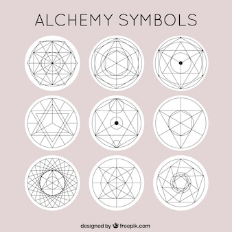 Cute alchemy symbols