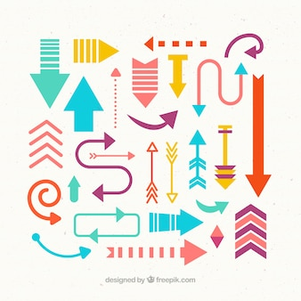 Cute and colorful arrows collection