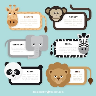 Cute animal banners collection