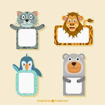 Cute animal frames collection