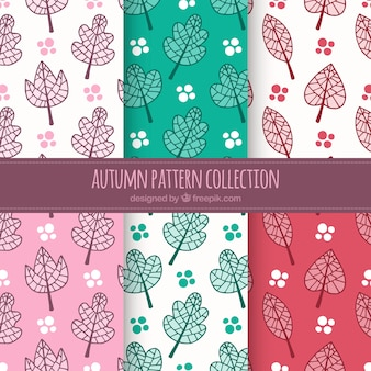 Cute autumn pattern background