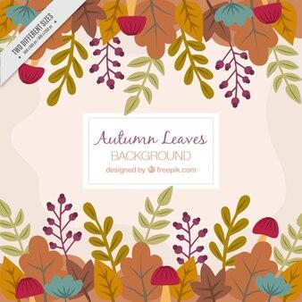 Cute autumnal decorative background