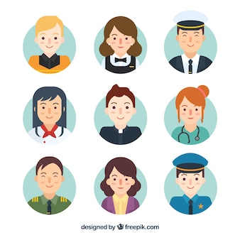 Cute avatars with traditional jobs