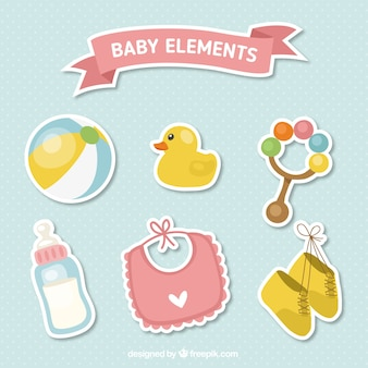 Cute baby accessories stickers set