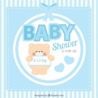 Cute baby shower card