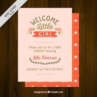 Cute baby shower card