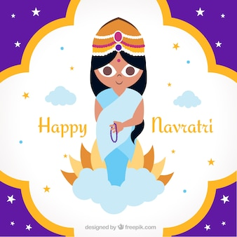 Cute background of happy navratri