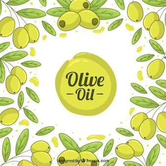 Cute background with olives