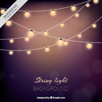 Cute background with string lights