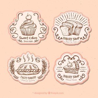 Cute badges for a bakery