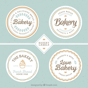 Cute bakery badges