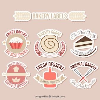 Cute bakery labels