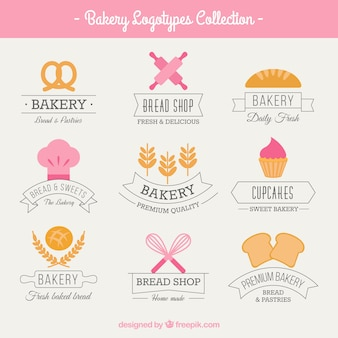 Cute bakery logos