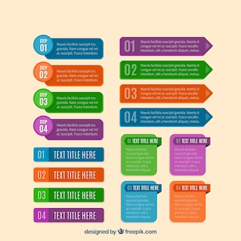 Cute banners for infographic