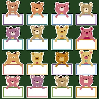 Cute bears badges