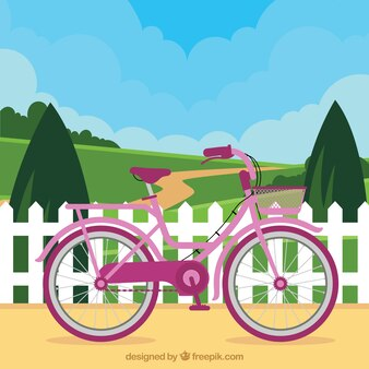 Cute bike in the nature