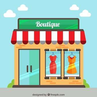 Cute boutique on the street