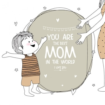 Cute boy background for mother's day