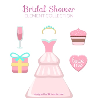 Cute bridal shower elements