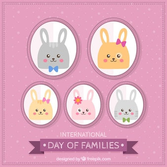 Cute bunnies to celebrate the international day of families