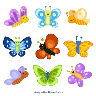 Cute butterflies illustrations