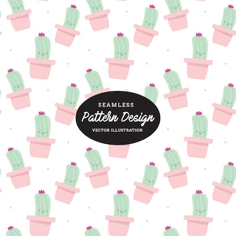 Cute cactus pattern. leaves and flowers hand drawn,design for invitation, wedding or greeting cards