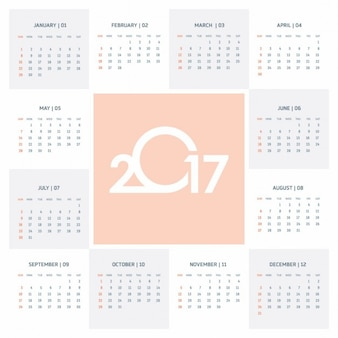 Cute calendar 2017
