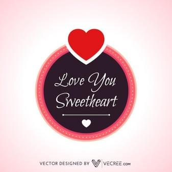 Cute calligraphic love message