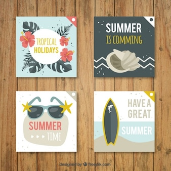 Cute card collection with summer subject