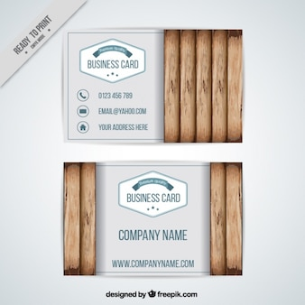 Cute card with wooden background