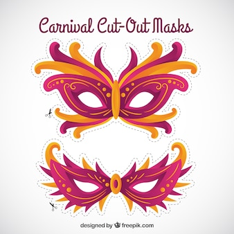 Cute carnival cut out masks