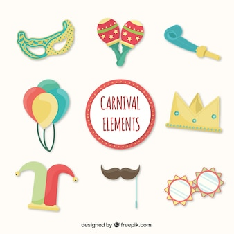 Cute carnival elements pack