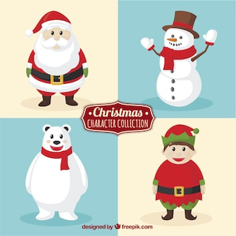 Cute character collection for christmas