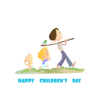 Cute children's day background