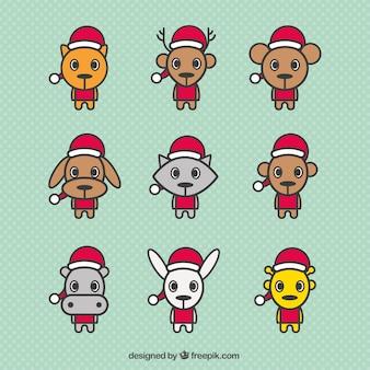 Cute christmas animals