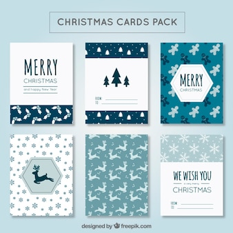 Cute christmas card pack
