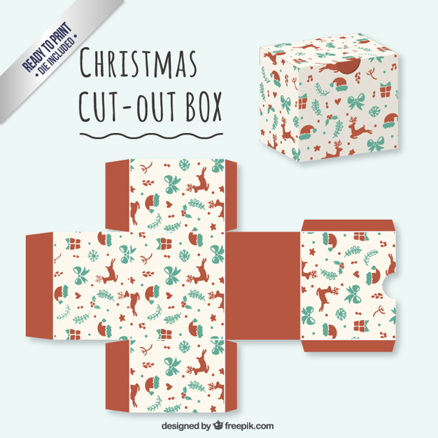 Cute christmas cut out box