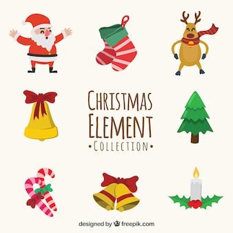 Смазливая коллекция элементов рождества