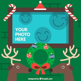 Cute christmas frame template