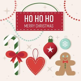 かわいいクリスマスのグリーティングカード