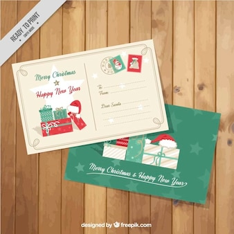 Cute christmas postcards