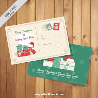 Cute christmas postcards