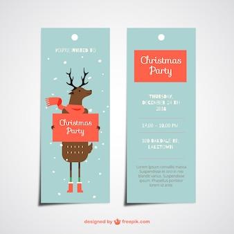 Cute christmas reindeer tags