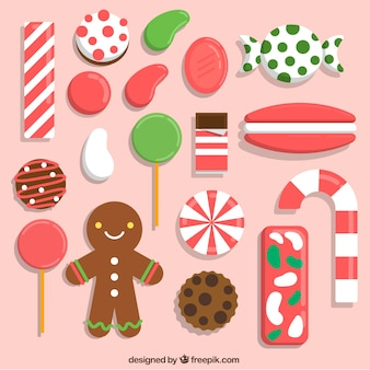 Cute christmas sweets collection