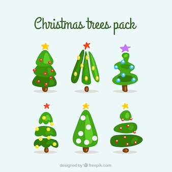 Cute christmas tree collection