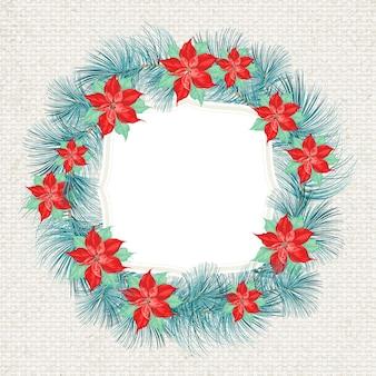 Cute christmas wreath