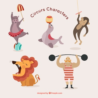 Cute circus characters pack
