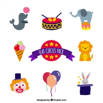 Cute circus element pack