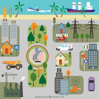 Cute city map