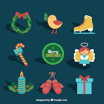 Cute collection of christmas elements